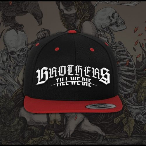 Red and Black Logo Snapback