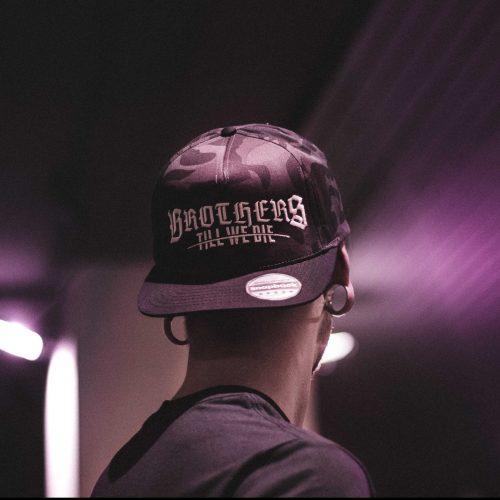 Black Camo Logo Snapback