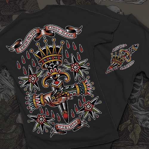"Black ""King's Blood"" T-Shirt"