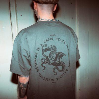 """Gray """"Natural Selection"""" T-Shirt"""
