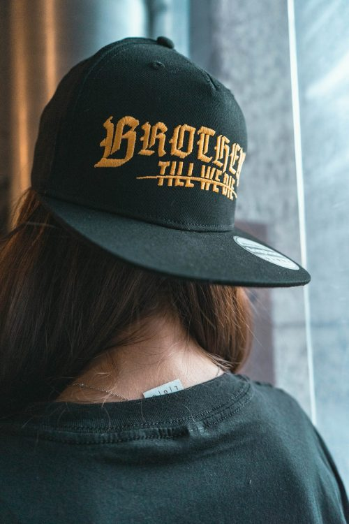 Black Gold Logo Snapback