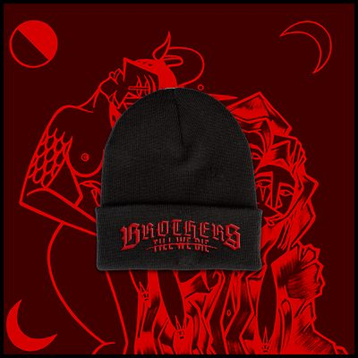 Black Blood Logo Beanie