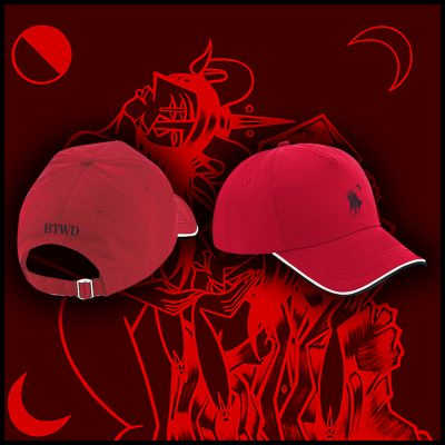 "Red ""Polo Death Lauren"" Caps"