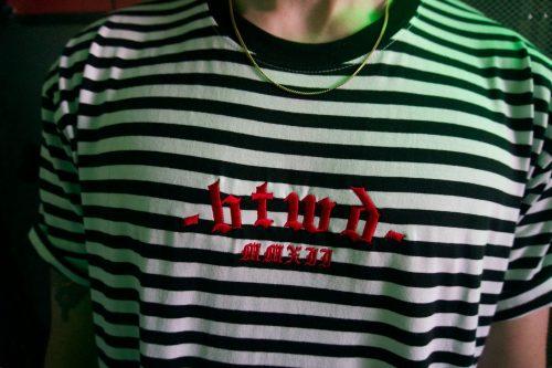 Striped B.T.W.D. T-Shirt
